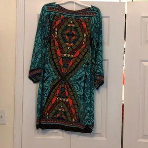 Beige by eci dress- so 14- euc- fits more like 12
